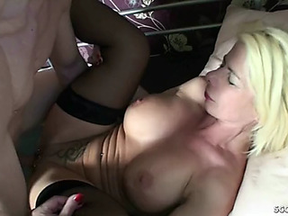 Step mamma love anal and entice juvenile guy to receive german