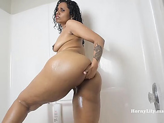 Indian aunty riding obese vibrator