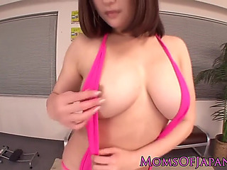 Japanese mother i'd like to fuck with bigtits receives facial