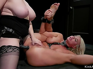 Breasty blond mother i'd like to fuck lesbo anal drilled