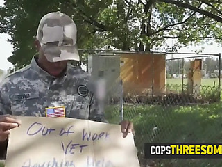 Mother I'd Like To Fuck cops make fake soldier eat their snatches to pay for crimes