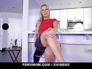 PervMom - Sexy Step Mom With Glasses Cheats On Husband