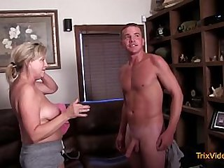 Mom Gives Son a Blowjob with Dad Watching