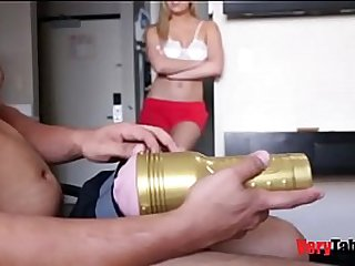 mom catches son jerking & fucks him