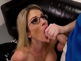 Horny mother sucking and fucking