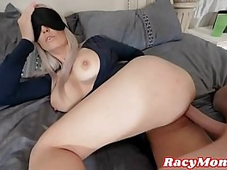 Mom Sucks Step Son's Tree Trunk Cock And Lets Him Slide It Between Her Perfect Tits!