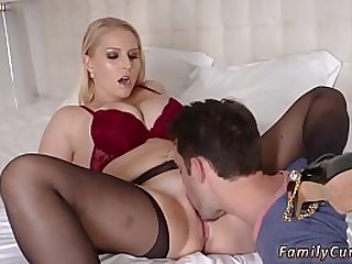 Blonde bombshell fucked by friend